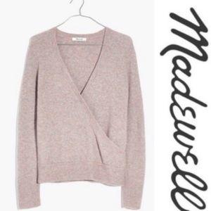 Madewell Wrap-Front Wool Alpaca Sweater sz M